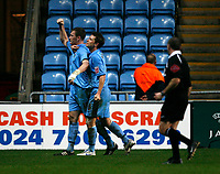 Kevin Kyle celebrates his goal against Southampton for Coventry City
