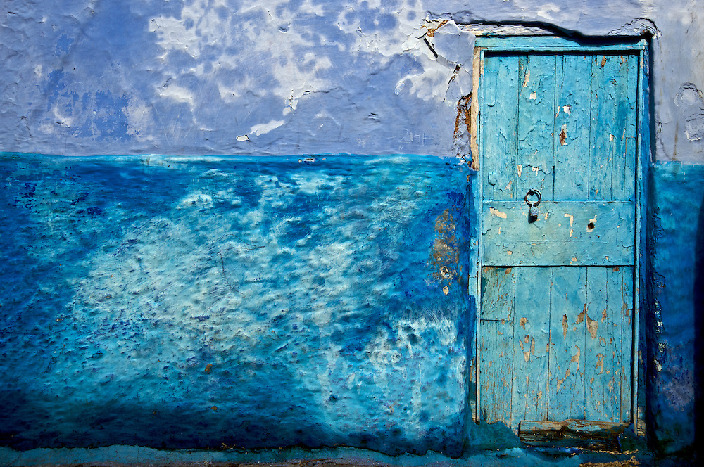 The town of Chaouen is mostly blue, a trend started by its Jewish residents in the 1930's.