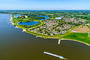 Nederland, Gelderland, West-Betuwe, 13-05-2019; het dorp Haaften gelegen aan rivier de Waal.<br /> Village at river Waal (Rhine).<br /> <br /> luchtfoto (toeslag op standard tarieven);<br /> aerial photo (additional fee required);<br /> copyright foto/photo Siebe Swart