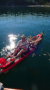 Kayaking, Spencer Spit, Lopez Island, San Juan Islands, Washington State
