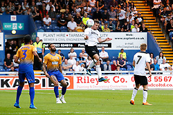 Craig Bryson of Derby County heads the ball - Mandatory by-line: Ryan Crockett/JMP - 18/07/2018 - FOOTBALL - One Call Stadium - Mansfield, England - Mansfield Town v Derby County - Pre-season friendly