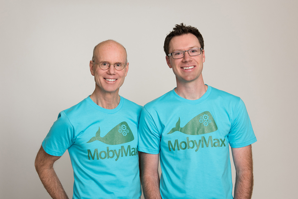 Father and son portrait.  Founders of MobyMax Education Company.