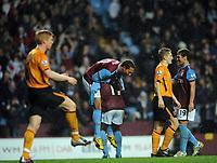 Aston Villa/Hull City Premiership 05.12.09 <br /> Photo: Tim Parker Fotosports International<br /> John Carew Aston Villa celebrates 3rd goal and is lifted into the air by team mate Gabriel Agbonlahor