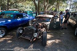 Hotrod show at the Broken Spoke Saloon during the 2015 Biketoberfest Rally. Ormond Beach, FL, USA. October 17, 2015.  Photography ©2015 Michael Lichter.