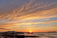 Sunrise Panorama over the Tagus River in Lisbon. One of eight images taken with a Leica CL camera and 23 mm f/2 lens (ISO 200, 23 mm, f/8, 1/60 sec). Raw images processed with Capture One Pro and AutoPano Giga.