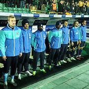 Fenerbahce's players during their Turkish soccer super league match Bursaspor between Fenerbahce at Ataturk Stadium in Bursa Turkey on Monday, 12 December 2010. Photo by TURKPIX