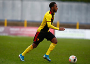 Kaylen Hinds of Watford during under-23 professional development league match between Watford and Charleton Athletic at Charleton Athletic Park Stadium, Monday, Feb. 3, 2020, in St. Albans, United Kingdom. (Mitchell Gunn-ESPA Images/Image of Sport)