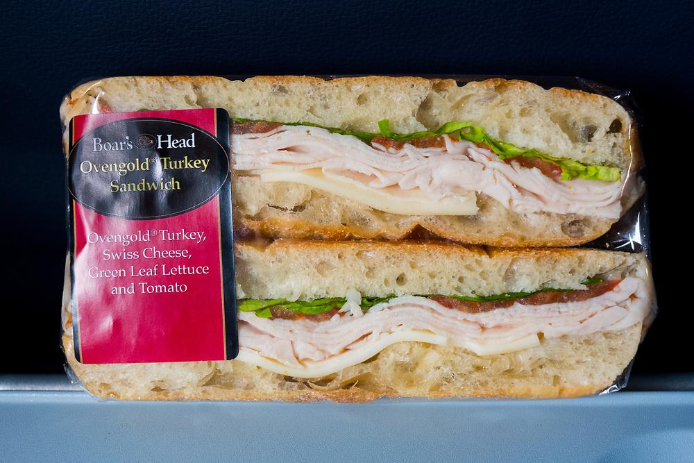 Turkey Sandwich from Dallas / Fort Worth Airport ($11.00) - Flight Home