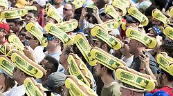 July 4, 2017 - Brooklyn, NY, U.S - Nathan's Famous International Hot Dog Eating Contest in Coney Island in Brooklyn, New York on July 4, 2017. (Credit Image: © Michael Brochstein via ZUMA Wire)
