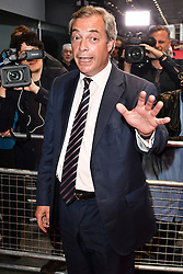 © Licensed to London News Pictures. 11/05/2016. UKIP leader NIGEL FARAGE attends the screening of Brexit: The Movie. London, UK. Photo credit: Ray Tang/LNP