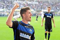 Fotball<br /> Tyskland<br /> 20.09.2014<br /> Foto: imago/Digitalsport<br /> NORWAY ONLY<br /> <br /> Paderborn - Hannover 96 2:0 (0:0) <br /> <br /> Freude nach dem Sieg; Moritz Stoppelkamp (SC Paderborn 07)