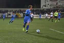 November 3, 2018 - Vercelli, Italy - Italian stricker Matteo Stroppa from Novara Calcio team playing during Saturday evening's match against Pro Vercelli team valid for the 10th day of the Italian Lega Pro championship  (Credit Image: © Andrea Diodato/NurPhoto via ZUMA Press)