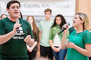 """Town of Wallkill, New York -  Cornwall High School students sing a song from """"The Wiz"""" during the Orange County Arts Council's All-County High School Musical Showcase and Arts Display at the Galleria at Crystal Run on Feb. 27, 2016."""