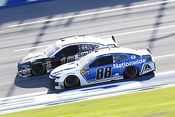 April 29, 2018 - Talladega, Alabama, United States of America - Alex Bowman (88) and Aric Almirola (10) battle for position during the GEICO 500 at Talladega Superspeedway in Talladega, Alabama. (Credit Image: © Chris Owens Asp Inc/ASP via ZUMA Wire)