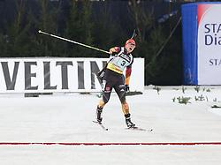 28.12.2013, Veltins Arena, Gelsenkirchen, GER, IBU Biathlon, Biathlon World Team Challenge 2013, im Bild Florian Graf (Deutschland / Germany) jubelt beim Zieleinlauf // during the IBU Biathlon World Team Challenge 2013 at the Veltins Arena in Gelsenkirchen, Germany on 2013/12/28. EXPA Pictures © 2013, PhotoCredit: EXPA/ Eibner-Pressefoto/ Schueler<br /> <br /> *****ATTENTION - OUT of GER*****
