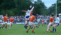 General view, GV, gaelic football, action, match, Monaghan (white & blue), Armagh (orange & white), GAA,  Armagh, N Ireland, 19850705JD1..Copyright Image from Victor Patterson, 54 Dorchester Park, Belfast, UK, BT9 6RJ..Tel: +44 28 9066 1296.Mob: +44 7802 353836.Voicemail +44 20 8816 7153.Skype: victorpattersonbelfast.Email: victorpatterson@me.com.Email: victorpatterson@ireland.com (back-up)..IMPORTANT: If you wish to use this image or any other of my images please go to www.victorpatterson.com and click on the Terms & Conditions. Then contact me by email or phone with the reference number(s) of the image(s) concerned.