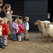 NLD/Blaricum/20070330 - Peutergroep de Bokketoren op bezoek bij de schaapskooi heide Blaricum
