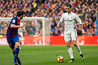 FC Barcelona's Sergi Roberto, Real Madrid's Cristiano Ronaldo during spanish La Liga match between Futbol Club Barcelona and Real Madrid  at Camp Nou Stadium in Barcelona , Spain. Decembe r03, 2016. (ALTERPHOTOS/Rodrigo Jimenez)