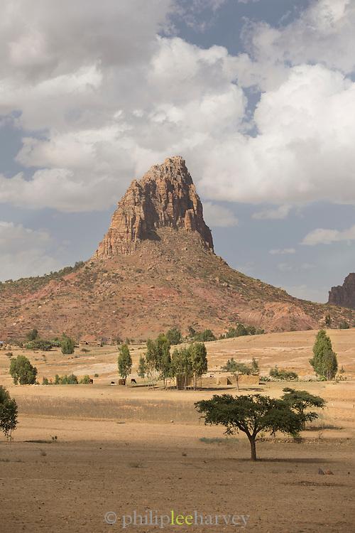 Mountain Peek in Landscape, Hausien region, Ethiopia, Horn of Africa