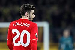 Adam Lallana of Liverpool - Mandatory by-line: Robbie Stephenson/JMP - 07/04/2016 - FOOTBALL - Signal Iduna Park - Dortmund,  - Borussia Dortmund v Liverpool - UEFA Europa League Quarter Finals First Leg