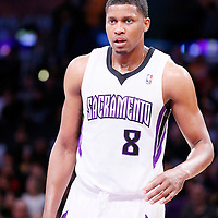 28 February 2014: Sacramento Kings small forward Rudy Gay (8) rests during the Los Angeles Lakers 126-122 victory over the Sacramento Kings at the Staples Center, Los Angeles, California, USA.