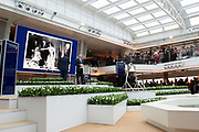 Koningin Maxima doopt het cruiseschip ms Koningsdam van Holland America Line in Rotterdam.<br /> <br /> Queen Maxima at the cruise ship ms Koningsdam Holland America Line in Rotterdanm for namen the ship.<br /> <br /> op de foto / On the photo: