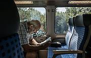 Germany, man on a train