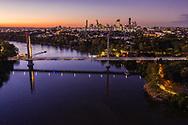 Aerial view of the Eleanor Schonell Bridge, Dutton Park, Brisbane, Queensland, Australia