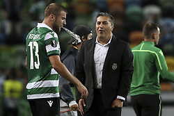September 20, 2018 - Na - Lisbon, 20/09/2018 - Sporting CP received the Qarabag FK tonight at Alvalade Stadium, in the first match of Group E of the Europa League 2018/19. Stefan Ristovski and José Peseiro at the end of the game  (Credit Image: © Atlantico Press via ZUMA Wire)