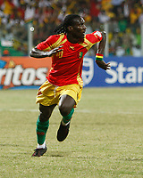 Photo: Steve Bond/Richard Lane Photography.<br /> Guinea v Morocco. Africa Cup of Nations. 24/01/2008. Ismael Bangoura turns to celebrate