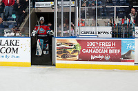 KELOWNA, BC - NOVEMBER 20:  Roman Basran #30 of the Kelowna Rockets walks to the ice to accept the third star of the game against the Victoria Royals at Prospera Place on November 20, 2019 in Kelowna, Canada. (Photo by Marissa Baecker/Shoot the Breeze)