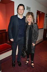 ELIZABETH EMANUEL and her son OLLIE EMANUEL at the 10th anniversary Gala of the Russian Ballet Icons at the London Coliseum, St.Martin's Lane, London on 8th March 2015.