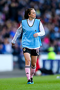 Chloe Arthur (#14) of Scotland warms up during the International Friendly match between Scotland Women and Jamaica Women at Hampden Park, Glasgow, United Kingdom on 28 May 2019.