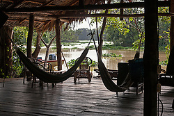 Hammocks in tourist resort, Orinoco Delta, Venezuela
