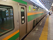 August 22, 2016 - Tokyo, Japan: The long distance Tokaido rail line, which operates between Tokyo and Kyoto was disrupted several times today due to Typhoon Mindulle hitting Tokyo. This typhoon, the ninth of this season, hit greater Tokyo and the outlying Kanto Plain area with the eye making landfall in neighboring Chiba Prefecture at around 12:30 p.m. Packing sustained winds of 126 kph (78 mph) and gusts as high as 180 kph (112 mph), Mindulle was the equivalent of a category 1 hurricane. It caused flooding as well as delays and cancelations to rail service including commuter lines, long distance express trains and the Shinkansen bullet train. In addition to rail disruption,s 244 flights were canceled at Tokyo's Haneda Airport. (Torin Boyd/Polaris).