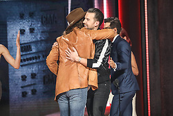 52nd Annual Country Music Association Awards hosted by Carrie Underwood and Brad Paisley and held at the Bridgestone Arena on November 14, 2018, in Nashville, TN. © Curtis Hilbun / AFF-USA.com. 14 Nov 2018 Pictured: T.J. Osborne and John Osborne of Brothers Osborne. Photo credit: Curtis Hilbun / AFF-USA.com / MEGA TheMegaAgency.com +1 888 505 6342
