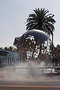 USA, Los Angeles California, Universal Studios entrance sign and logo