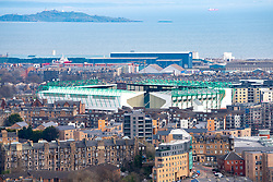 View of Easter Road stadium home of Hibernian football Club, Edinburgh, Scotland, UK