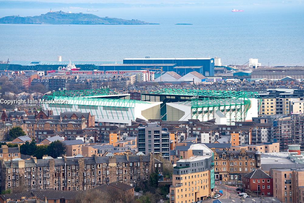 View of Easter Road stadium home of Hibernian football Club, Edinburgh, Scotland, UK