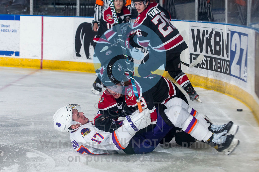 The Youngstown Phantoms defeat the Chicago Steel 5-2 at the Covelli Centre on January 23, 2021.<br /> <br /> Will Hillman, forward, 17
