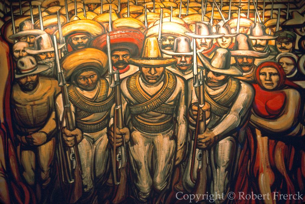 MEXICO, MEXICO CITY, MURAL Siqueiros' 'The Mexican Revolution'
