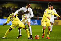 Villarreal CF's E. Bailly, M. Trigueros and Real Madrid's Cristiano Ronaldo during La Liga match. December 13, 2015. (ALTERPHOTOS/Javier Comos)