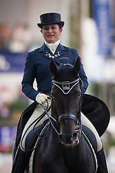 Fassaert Claudia (BEL) - Donnerfee <br /> CDIO5 Grand Prix Freestyle <br /> CHIO Rotterdam 2014<br /> © Dirk Caremans