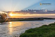 North Loup River at sunrise in Cherry County, Nebraska, USA