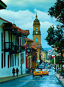 Colombia, Bogota, Tower of the Catedral Primada, Calle 11, Bogota Mint Museum