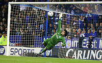 Photo: Pete Lorence.<br /> Leicester City v Aston Villa. Carling Cup. 24/10/2006.<br /> Gareth Barry converts from the spot to take Villa 2-1 up.