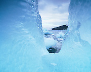 Antartic seas viewed through ice, Antarctica