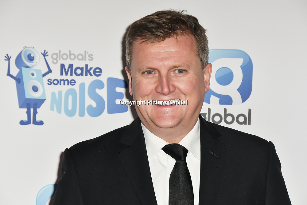 Aled Jones arrivers at the Global's Make Some Noise Night at Finsbury Square Marquee on 20 November 2018, London, UK.