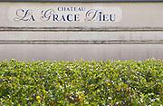 Vineyard. Chateau La Grace Dieu. Saint Emilion, Bordeaux, France