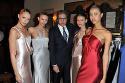 SAID ISMAEL and models wearing Catherine Walker designs at a fashion show by Catherine Walker & Co in support of The Haven held at One Mayfair, North Audley Street, London on 18th May 2011.